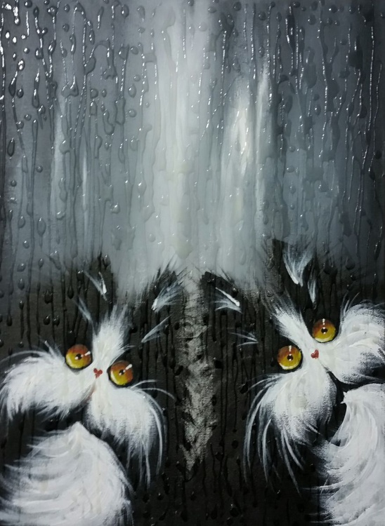 Cats in the rain - Image 0