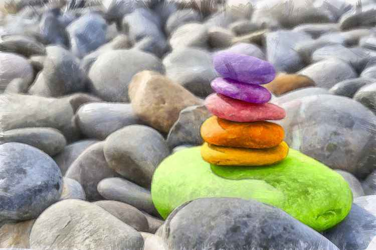 Coloured Pebbles -