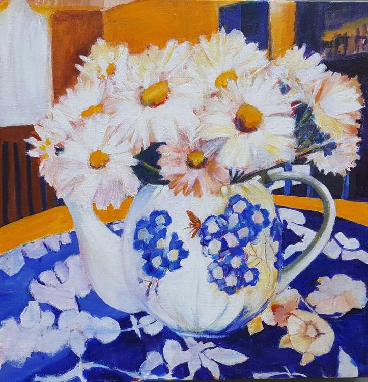 Daisies in a teapot (aka Purpur Tableaux) - Image 0