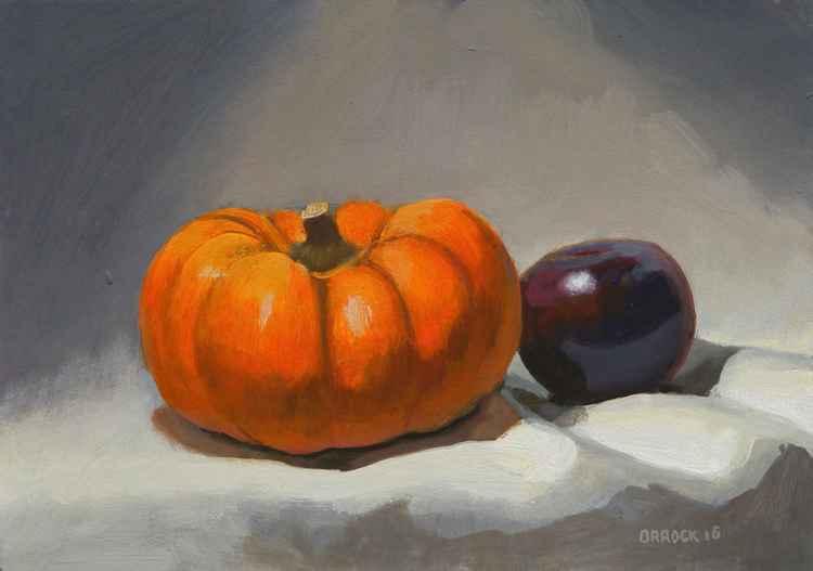 Pumpkin and plum -