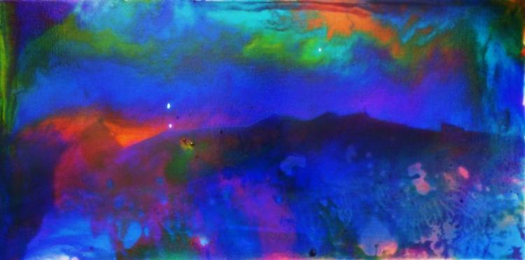 Night landscape. 25x50cm - Image 0