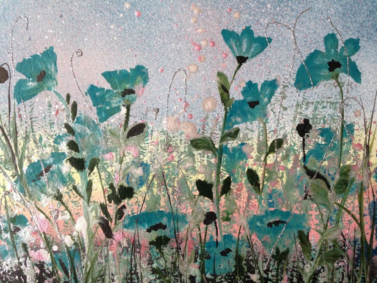 Teal poppies - Image 0