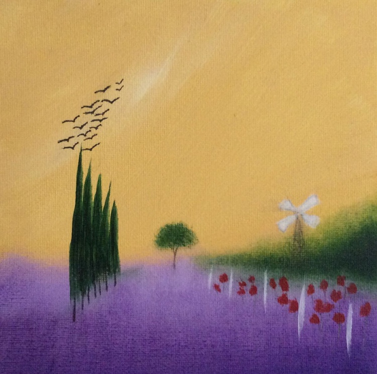 """"""" flying across the Provence """" ( miniature size ) - Image 0"""