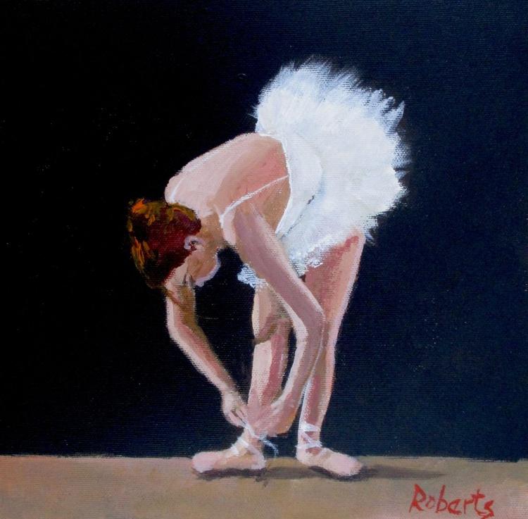 Ballerina tying shoe - Image 0