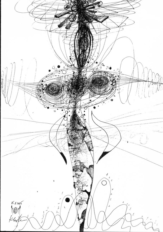 WE ARE ENERGY TIME FREEZING MEDITATION WITH SPHERES BIZZARE ECLECTIC STILL LIFE COSMIC LINES BY OVIDIU KLOSKA - Image 0