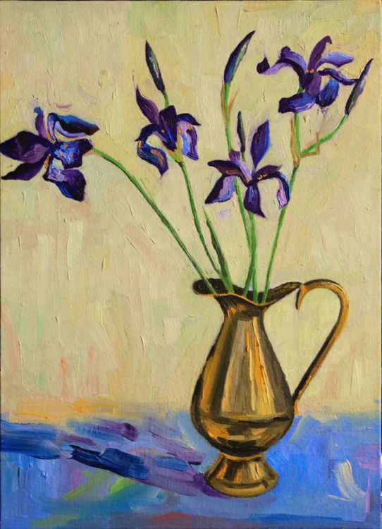 Irises in a jar -