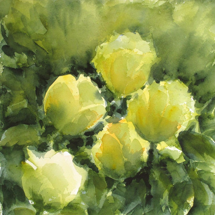 Green gold flowers - Image 0