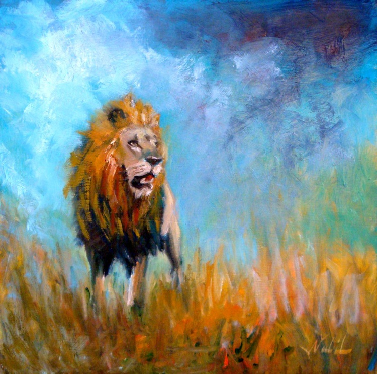 lion in the storm - Image 0