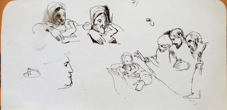 The Three Wise Men, sketches, 30x15 cm - Image 0