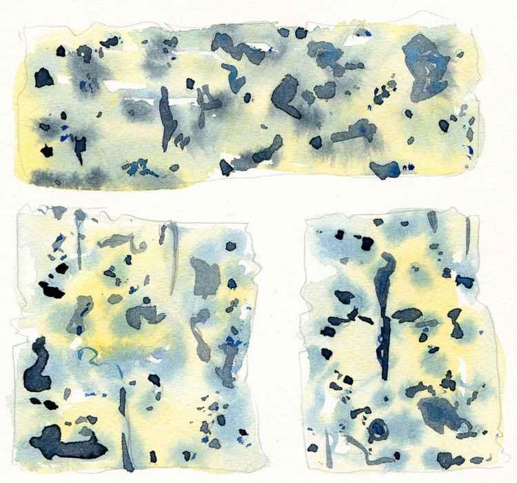 Original Watercolour Blue Cheese Study