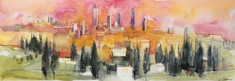 Tuscan landscape - San Gimignano - Image 0