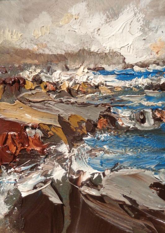 Sat on a rocky shore 2 - Image 0