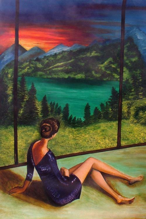 Longing- Original Acrylic Painting - Image 0