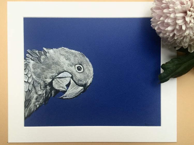 Hyacinth Macaw, Pen and Ink - Image 0