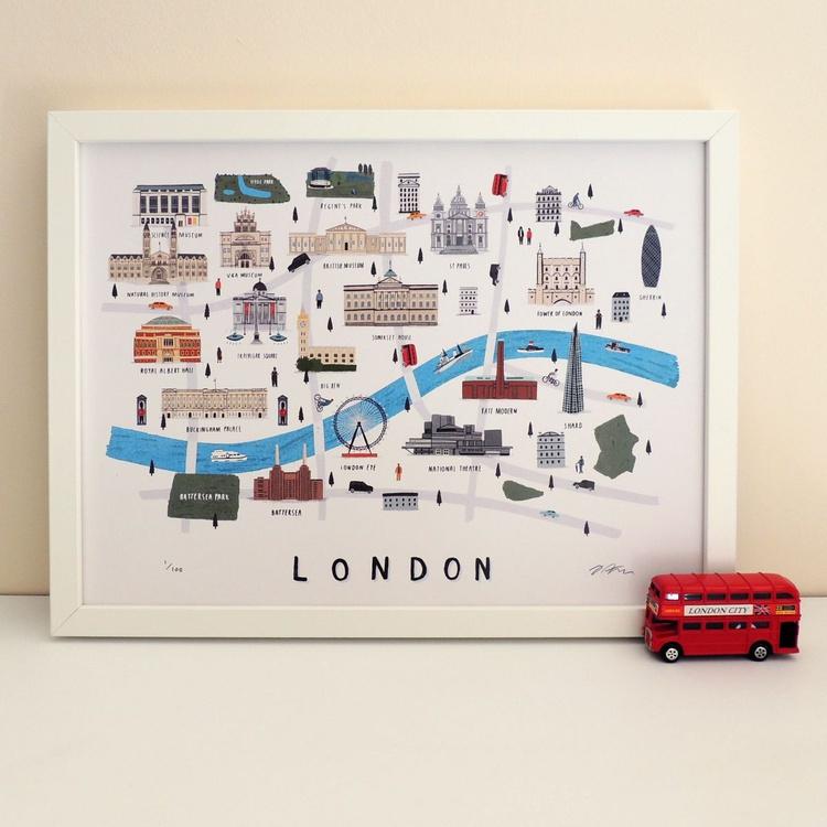 London map print - Image 0