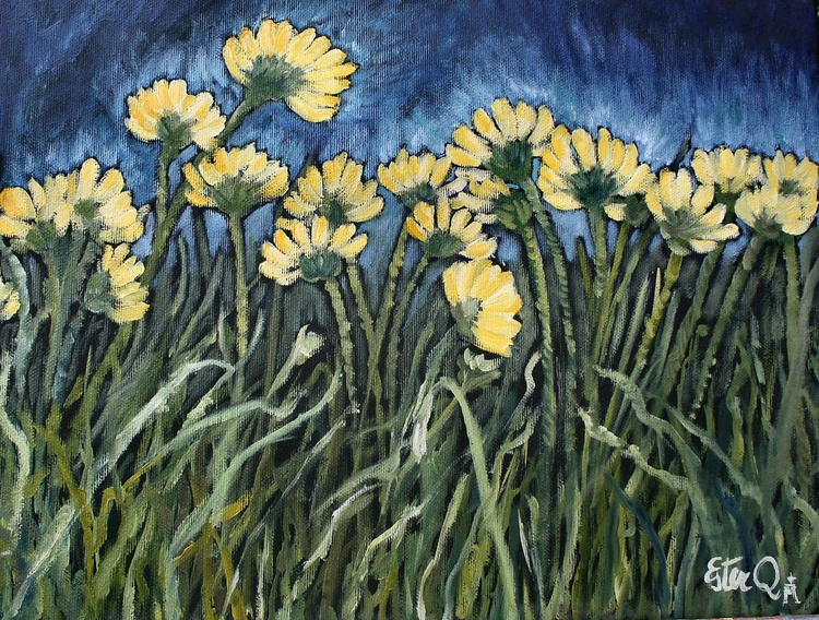dancing daisies in the light - Image 0
