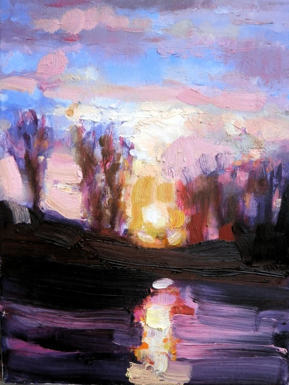 Just a small painting - sunset - Image 0