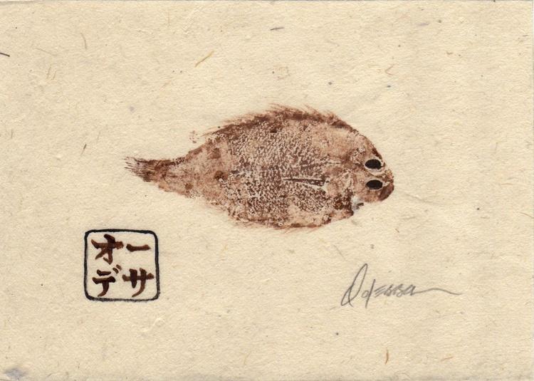 Baby Flounder Gyotaku (Fish Rubbing) #2 - Image 0