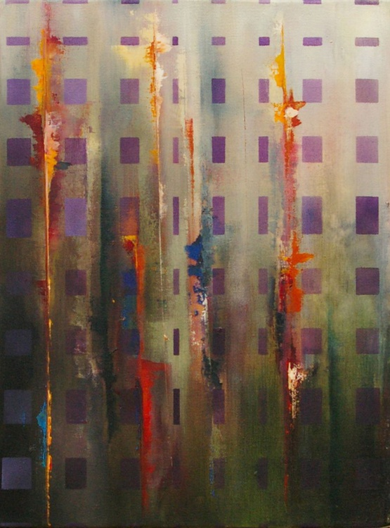 Ab Squares II- Original One of a Kind Contemporary Abstract Oil Painting - Image 0
