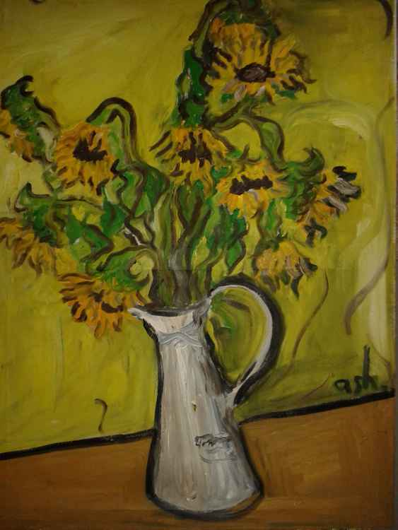 Ten Sunflowers (after Van Gogh)