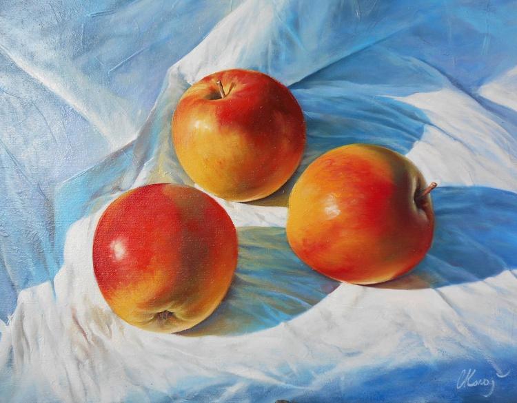 Apples. Still life / Oil on canvas - Image 0