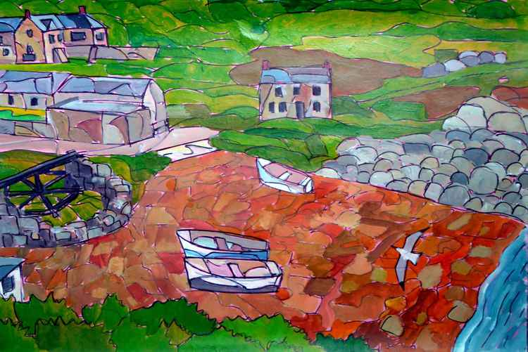 Penberth Cove from the coast path -