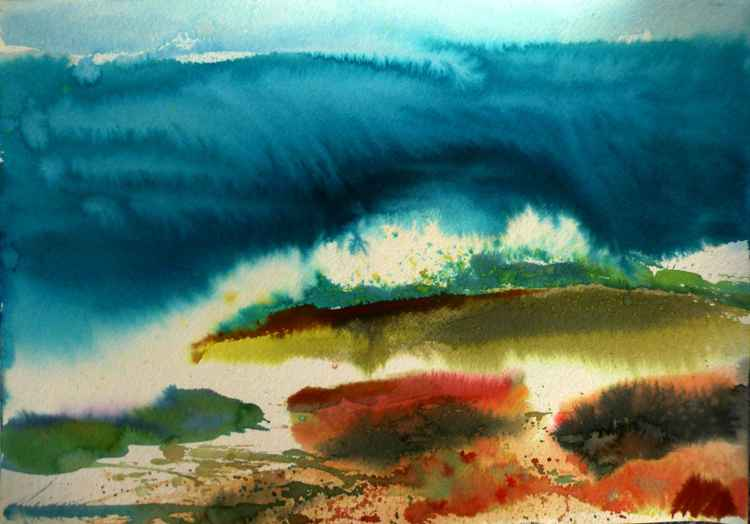 Watercolor seascape, 30x42 cm -