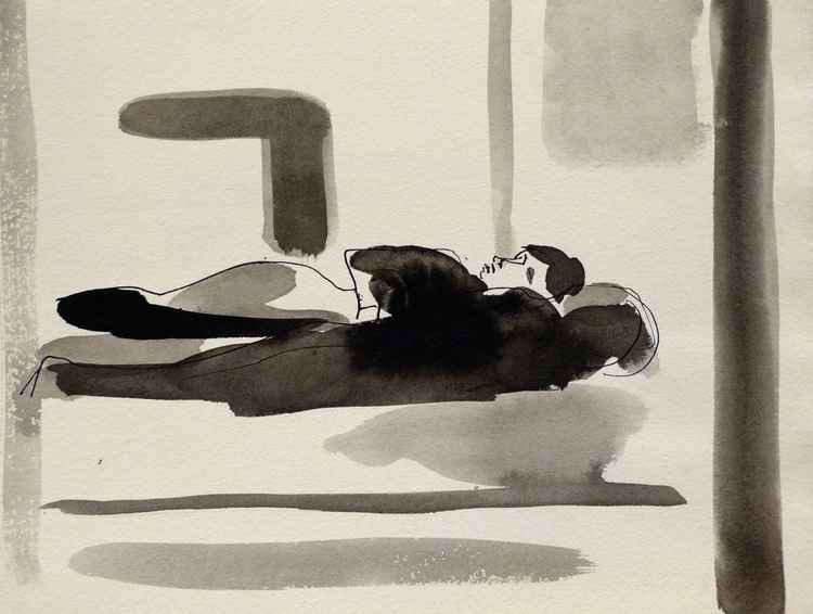 Sleeping Model, 25x19 cm -