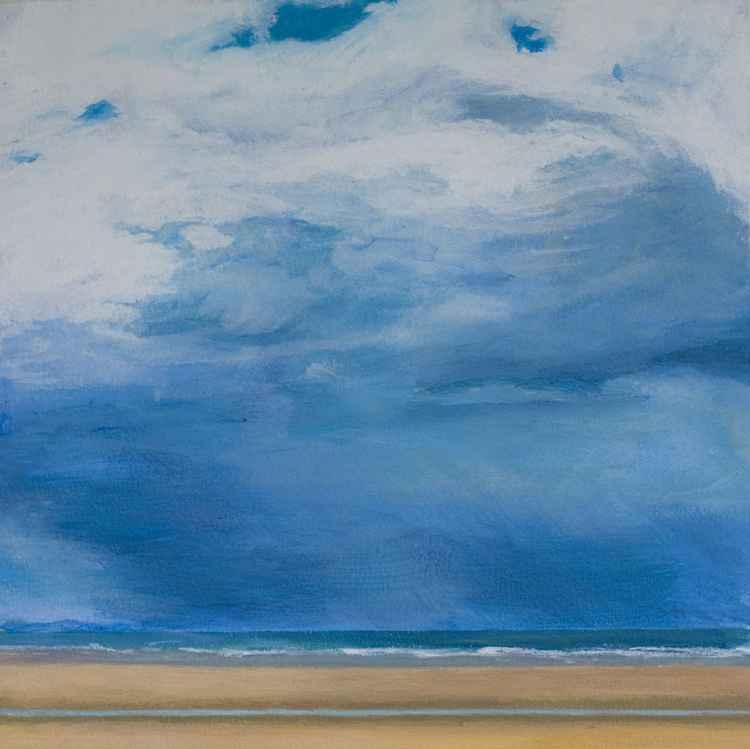 Rain Clouds at Longniddry Bents, East Lothian, Scotland -