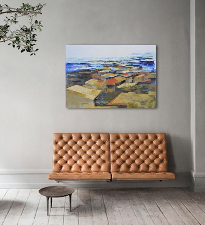 """Canvas art 39.37/27.5(100/70cm). """"Old town VI"""" - Image 0"""