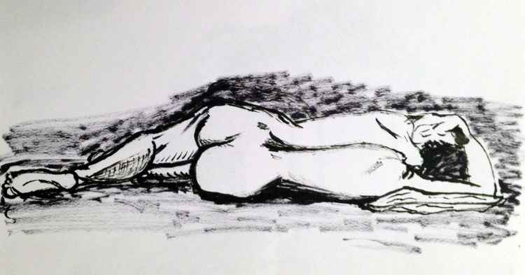 Female figure lying down