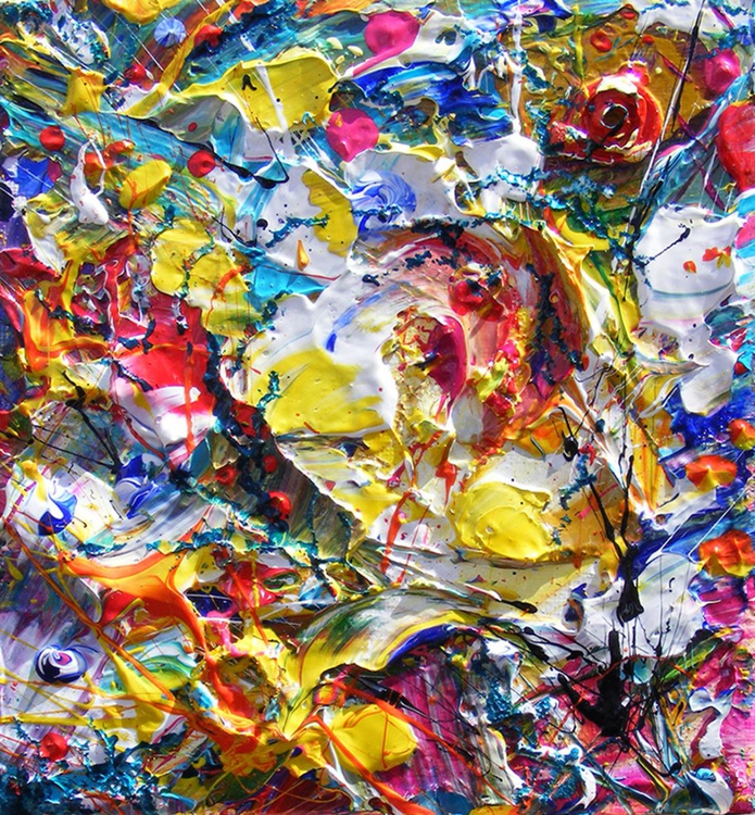"Pop art abstract art - ""Indulgence #1"" - Image 0"