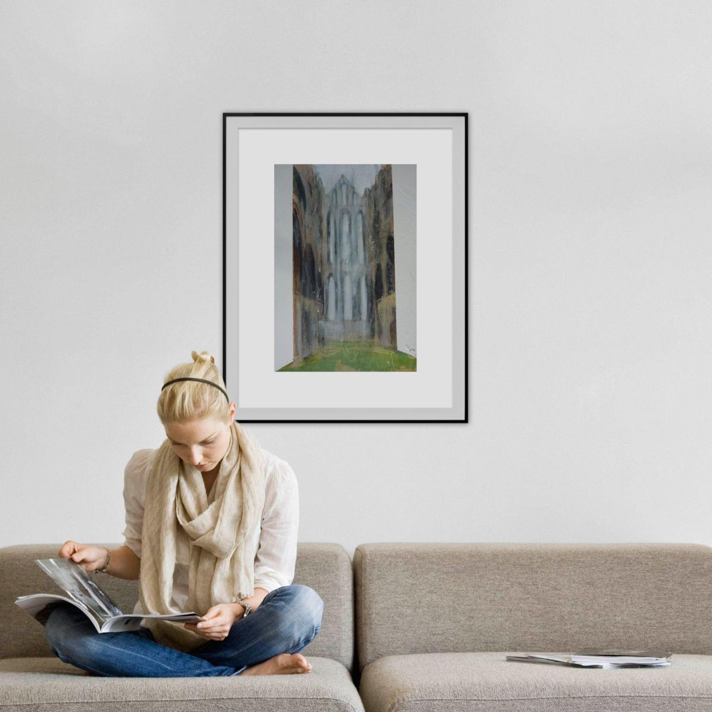Whitby Abbey Six Acrylic painting by Josh Bowe   Artfinder