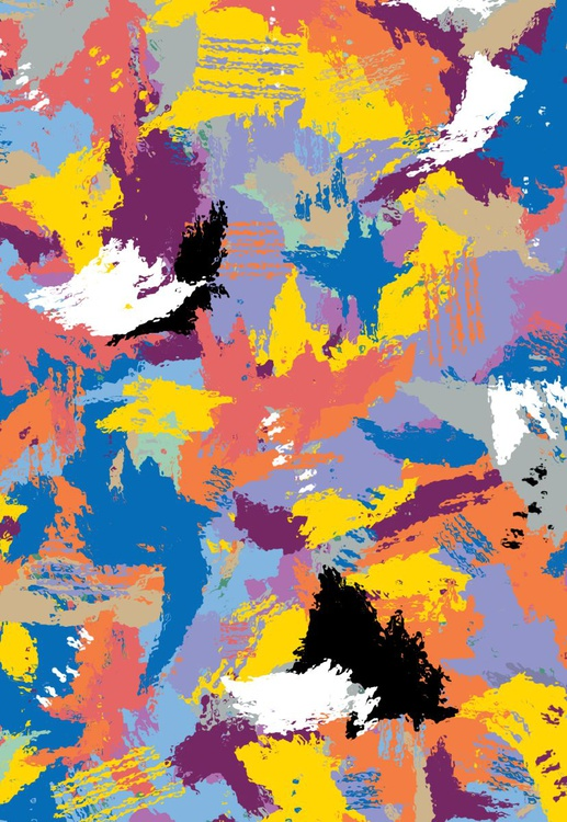 Fall Abstract Giclee Canvas Print - Image 0