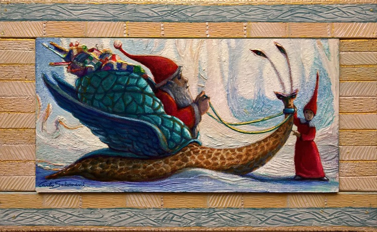 THE MAGICAL SNAIL OF SANTA CLAUS - ( framed ) - Image 0