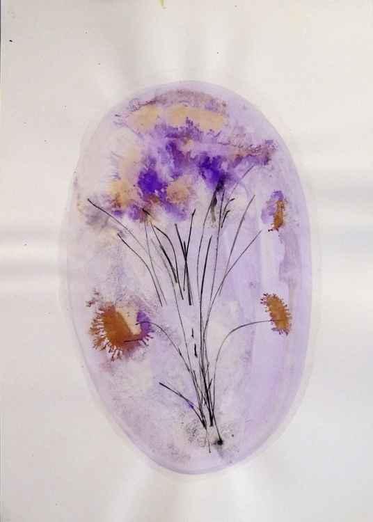 Floral Vignette: Lilacs, 29x42 cm -