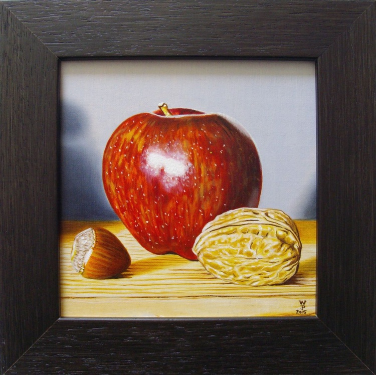 Red apple with nuts - Image 0