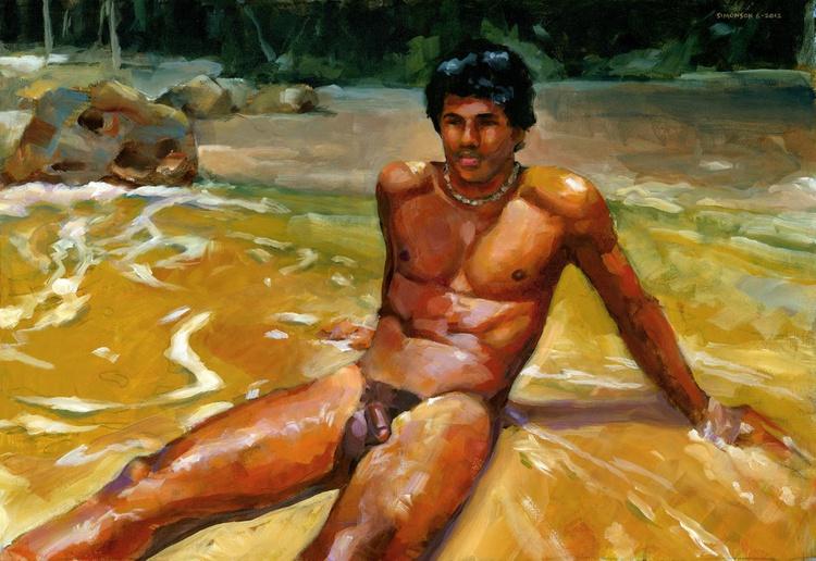 On a Deserted Beach - Image 0