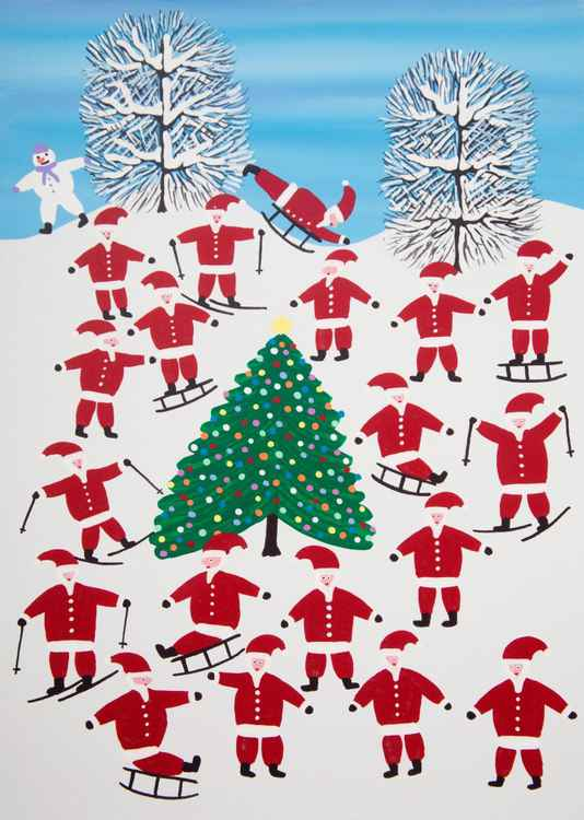 Santa on holiday -