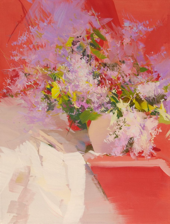 "Flower painting "" Lilacs "" (72sl13) - Image 0"