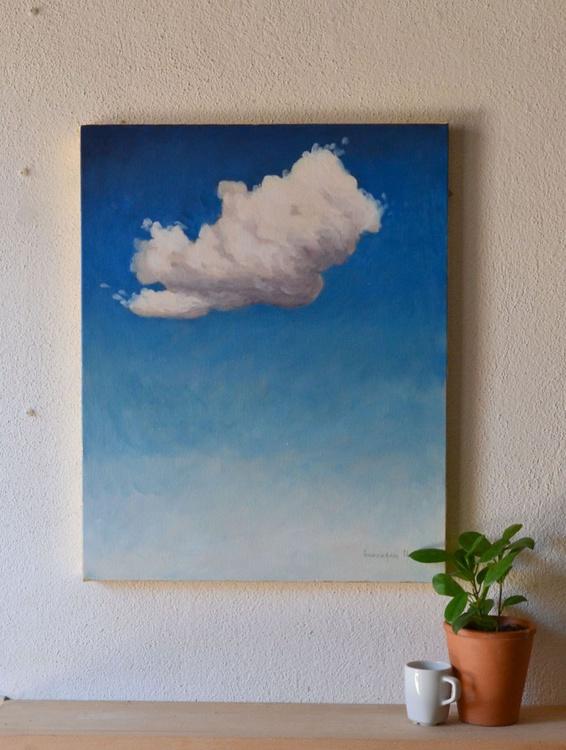 My Little Cloud n.3 Blue Sky Oil Painting - Image 0