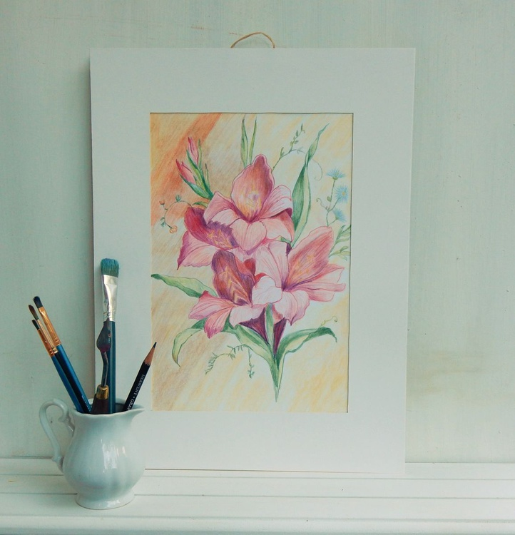 Lillies. Ready to hang. - Image 0