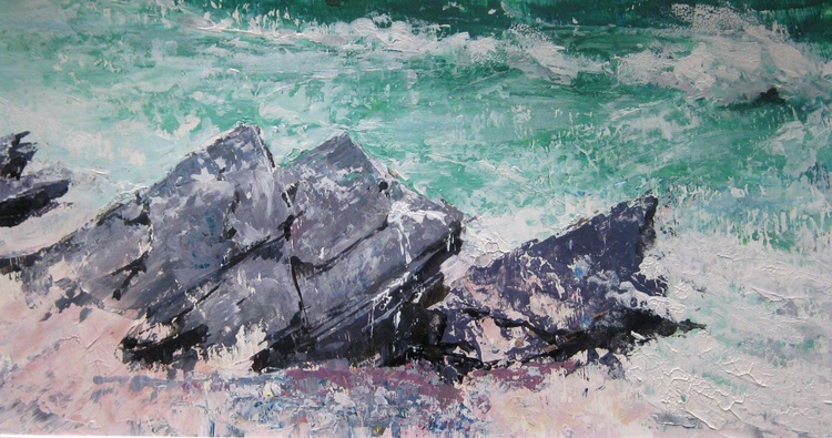 Rock Outcrops in the Sand - Image 0