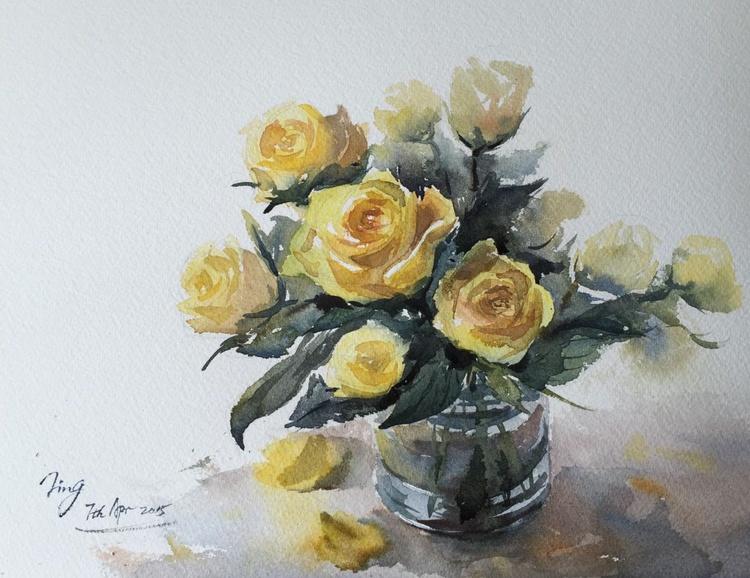 Vase of roses 9 - Image 0