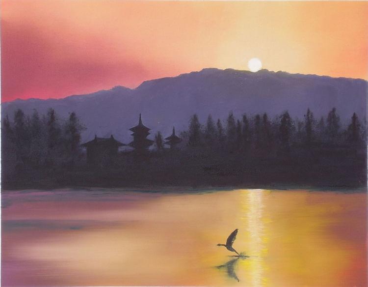 Yakushiji sunset, Japan - Image 0