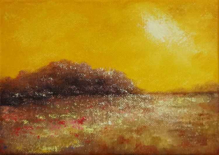 """Sun Kissed"" small 5"" X 7"" oil - Image 0"