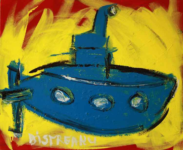yellow submarine turned blue in the red sea -