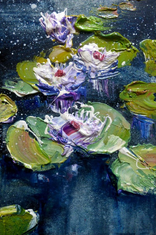Water lilies, oil painting 20x30 cm, sent from office Artfinder! - Image 0