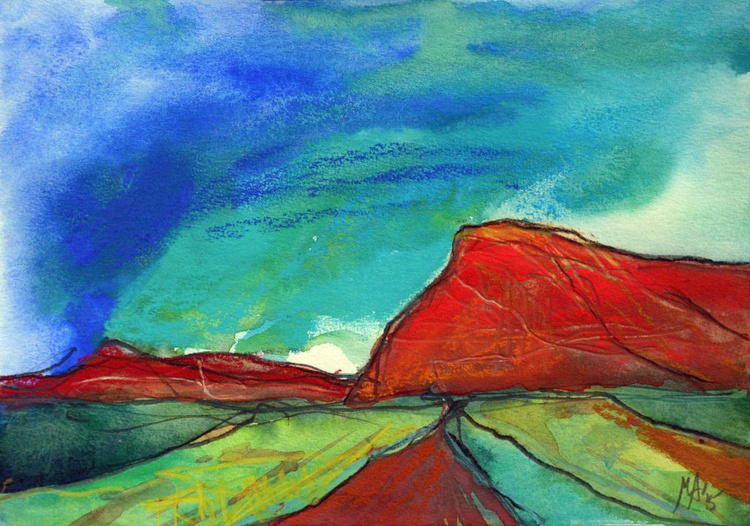 Landscape - Red Mountains - Image 0
