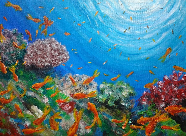 """THE REEF"", 40.5x30cm (16×12 inch) - Image 0"